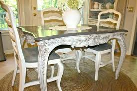 French Country Kitchen Chairs Painted Table And Eclectic