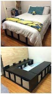 diy platform bed with storage danielsantosjrcom
