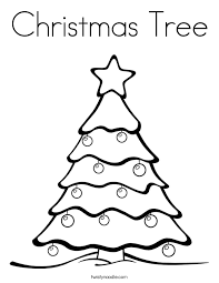Small Picture Christmas Tree Coloring Page Twisty Noodle