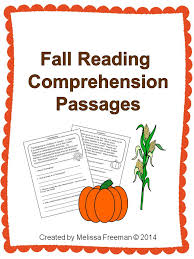 Fall Reading Comprehension Passages | Reading passages ...