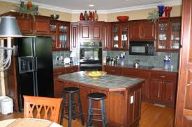 Dark Mahogany Kitchen Cabinets Dark Red Cherry Kitchen Cabinets Quicuacom