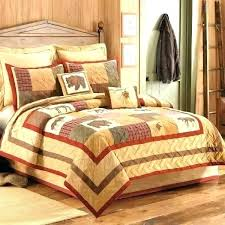 cabin bedding sets rustic quilts for cabins quilt big sky patchwork canada