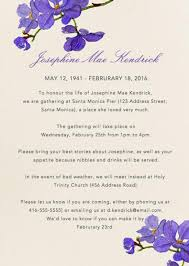 memorial service invitation 39 best funeral reception invitations love lives on