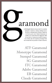 Garamond Designer Garamond Type Specimen Poster Communication Design