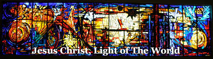 christ light of the world stained glass window desinged by roger darricarrere at st stephen s lutheran church