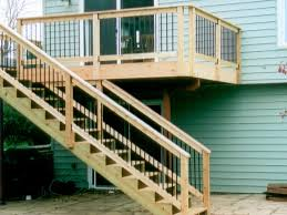 ... Incredible Home Exterior Design Ideas Using Deck With Stairs :  Beautiful Home Exterior Decoration Ideas Using ...