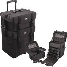 professional rolling makeup case nylon soft organizer wheeled makeup cases uk makeup cases target