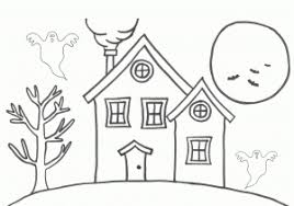 House Drawing For Colouring How To Draw House Coloring Pages