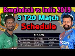 India Vs Bangladesh T20 Series 2019 Fixture 3 T20 Matches Series Schedule Date Time 2019