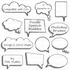 Photoshop Speech Bubble Doodle Speech Bubbles Photoshop Brushes Hand Drawn Speech