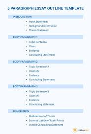 Essey Outline The Best 5 Paragraph Essay Outline Essaypro With 3