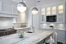 white glass subway tile kitchen modern with backsplash bright home
