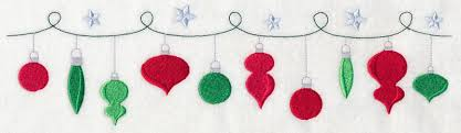 Christmas Ornaments Border Machine Embroidery Designs At Embroidery Library