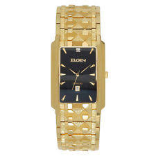 elgin mens gold watch elgin mens gold tone diamond accent rectangular watch fg8014