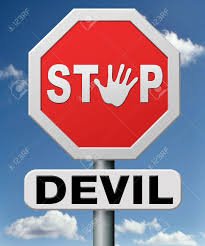 Royalty Free More Stop Stock Temptation Hell Devil Image Image And Photo To Picture 18534817 Satan Or The Go Resist Evil No