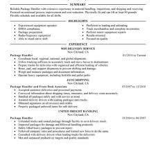 package handler resume great employment resume examples photos