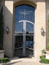 metal front doorsWrought Iron Entry Doors  Naddour Iron