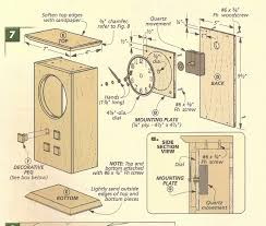 arts and crafts clocks arts and crafts mantle clock exploded view 2 dimensioned drawing