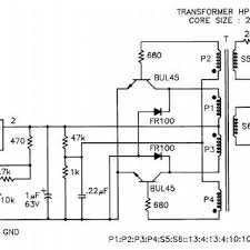 circuit diagram of high voltage multiplier and resistive divider for circuit diagram of smps oscillator
