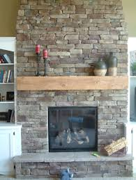 decoration amazing rustic wood fireplace mantels ideas adhere on stacked stone veneer fireplace surround for small wood burning fireplace insert with black