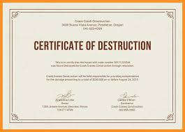 7 8 Certificate Of Destruction Template Wear2014 Com
