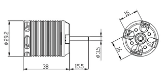 agnhml45m02 450mx brushless motor 1700kv rcm bl450mx for t rex 450 wiring schematic drawing
