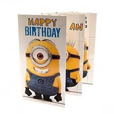Despicable Me Fold Out Birthday Card Minions 5051265721488 Ebay