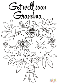 Get Well Soon Grandma Coloring Page Free Printable Coloring Pages