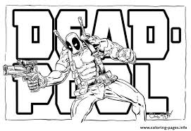 Deadpool Logo Movie 2016 Coloring Pages Printable