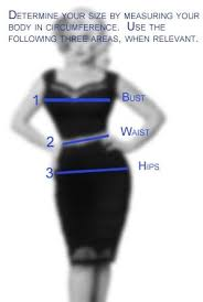 Pin Up Couture Size Chart