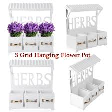 vintage wooden wall garden hanging planter flower pots window box basket rb 1 of 12free