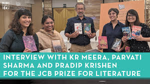 Books on Toast - Interview with KR Meera, Pradip Krishen and Parvati Sharma  for the JCB Prize for Literature + Reading Challenge | Facebook