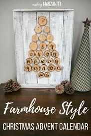 Farmhouse style Christmas Advent Calendar ideas | DIY Rustic Christmas  Advent Calendar Countdown | Turn the