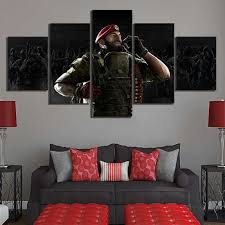 Canvas Painting Print Picture Game Tom Clancy'S Rainbow Six ...