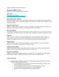 Skills And Abilities Job Description Skills And Abilities