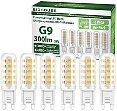 G9 Led <b>Light</b> Bulbs, <b>3W</b>, 3000K <b>Warm</b> White, 300Lm, 30W Halogen ...