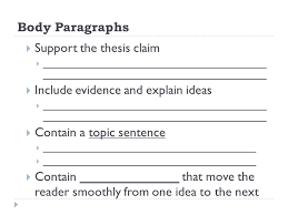 the components of an essay english student notes ppt  8 body paragraphs