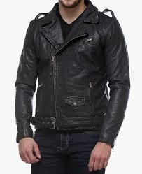 men s belted asymmetrical black leather biker jacket