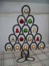 Horseshoe Christmas Tree...Horseshoe Holiday Decor...Horseshoe Christmas  Decor.