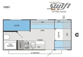 2012 jayco jay flight swift 184bh travel trailer prescott az floorplan