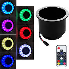 Rsx Cup Holder Light Bulb Details About 2in1 Rgb 14led Plastic Cup Drink Holder Remote Control For Car Marine Boat Truck