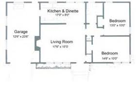 Two Bedroom House Plans With Garage   Two Bedroom House Floor        Two Bedroom House Plans With Garage   Bedroom House Plans Free