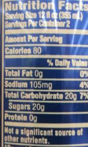 brisk iced tea lemon nutrition facts