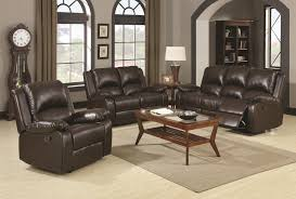 Reclining Living Room Furniture Sets Coaster Boston Casual Three Seat Reclining Sofa Coaster Fine