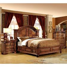 Furniture of America Traditional Style Antique Tobacco Oak