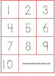 Tracing numbers 1 to 10 - Flash cards for kids