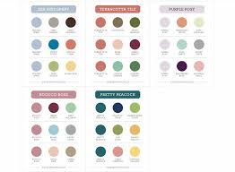 In Color Coordination Chart And In Color Checklists