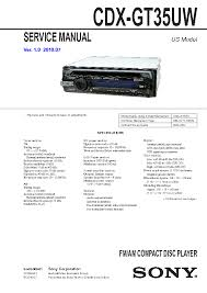 sony cdx gt450u wiring diagram wiring diagram and schematic design sony cdx gt370 manuals