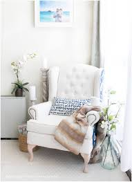 Farmhouse Style Wingback Chair Makeover » Oh Everything Handmade