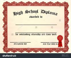 high school diploma blank lines stock illustration  high school diploma blank lines